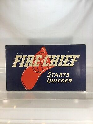 Vintage Texaco Fire Chief 1936 Gasoline Sign Doubled Sided
