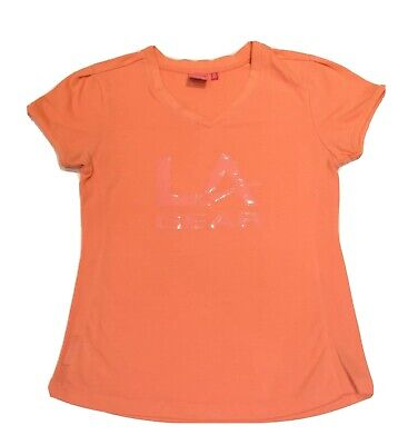 LA Gear Girls Coral Sports Logo T-Shirt Top Short Sleeve Age: 13 Years