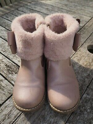 Baker By Ted Baker Girls Pink Ankle Boots Uk12 Eu 31 Kids Winter Shoes