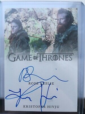 Game Of Thrones Inflexions - Rose Leslie / Kristofer Hivju Dual Autograph Card