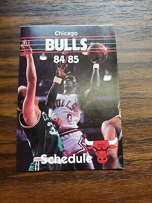 1984-85 MICHAEL JORDAN Chicago Bulls Rookie year pocket Schedule (1)