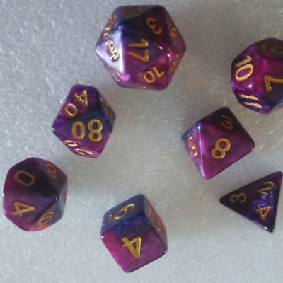 1 Set of 7pcs Games Dungeons&Dragons D4-D20 Multi-sided Dices