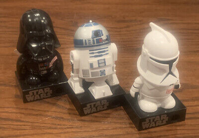 STAR WARS LOT OF 3 STAR WARS CANDY DISPENSER GALERIE R2-D2 Darth Vader Storm