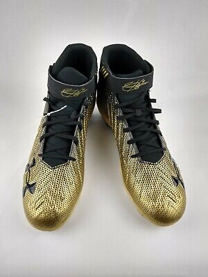 Under Armour Cleats Size 13 BH34 Black Gold