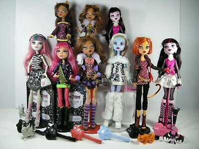 Monster High Dolls Original w stands + brush + accessories all in VGC no 1 N