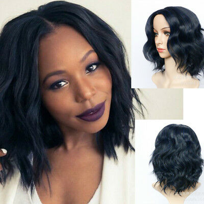 Women Wavy Curly Wig Bob Style Full Short Hair Wig Full Lace Wig Party Cosplay 7 49 Picclick Uk