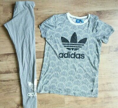 Adidas Originsls Set Trefoil Leggings And T Shirt