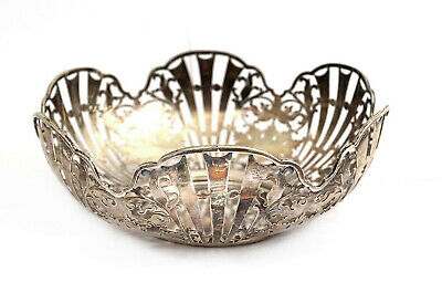 Fine Antique Pierced Silver Fruit Bowl Bread Basket London 1927 321g