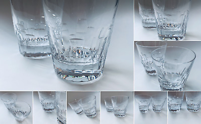 """A Pair of Jasper Conran for Stuart Crystal """"Ice"""" Whisky Tumblers"""