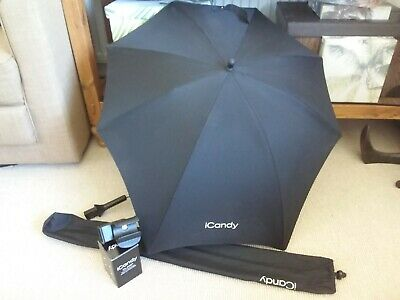 iCandy Black Parasol Sun Shade / Cupholder Clamp Strawberry 1 2
