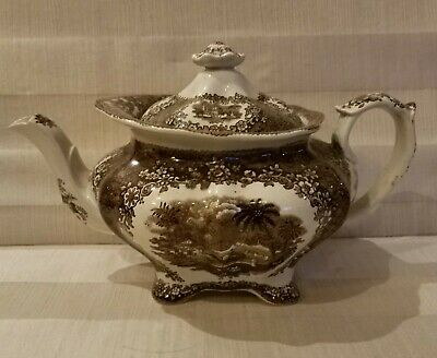 Antique Wedgwood? Brown Teapot stamp #2 c.1800's in Beautiful condition