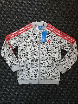 Adidas Originals Girls Youth M 11-12 Years Heart Spotted Track Jacket BNWT