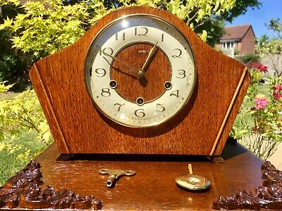 Smiths Westminster Chime Mantle Clock, Serviced, Open To Offers