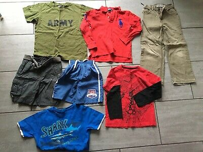 Boys Clothes Bundle Trousers, Tops, Shorts etc Age 6-7 Years. Good Condition.