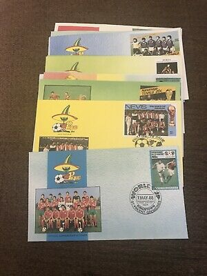 Set of 14 First Day Cover 1986 Mexico World Cup