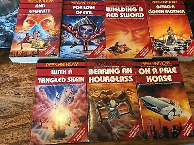 Piers Anthony The Incarnations of Immortality series - full set of 7 books