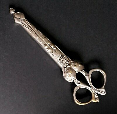 Silver Plated Scissors in case, Late Victorian,used,very sharp.