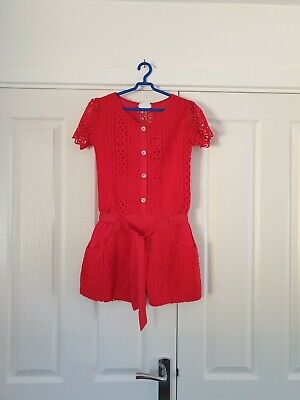 Girls playsuit age 9-10 years red summer brand new with tags