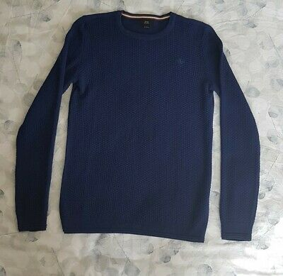 Boys Blue Thin Knit River Island Jumper Age 11-12 Years NWOT