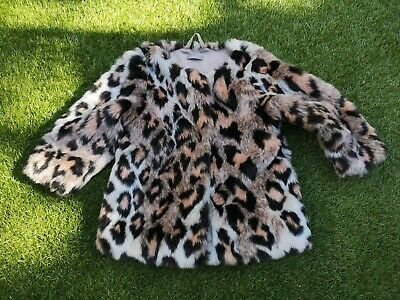 NEXT Girls Leopard Print Fur Coat Jacket (Age 2-3Years)