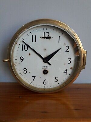 Vintage Brass Ships Clock by Smiths Astral