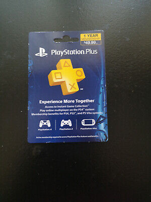 Sony PlayStation Plus 1 Year / 12 Month Membership Card