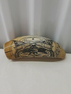 Mississippi / Scrimshaw Whale Resin Tooth . Reproduction . No-Reserve