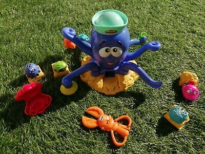 Play doh starter set used octopus complete with play doh