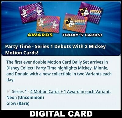 Topps Disney Collect PARTY TIME Series 1 [8 CARD SET PRESALE] SENT DAILY!