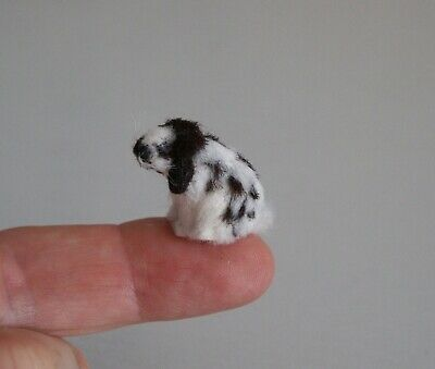 New Tiny Furry English Lop Rabbit - 1/24Th Scale