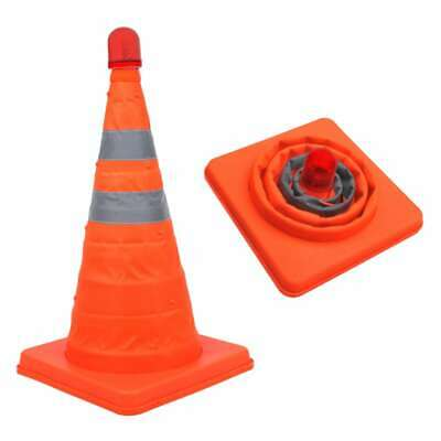 ProPlus 2x Safety Cones Collapsible with LEDs Traffic Accident Emergency Sign~