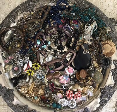 Costume Jewelry Clean Estate Lot Vintage & Modern 2.5 Pounds Wear Or Resell NICE