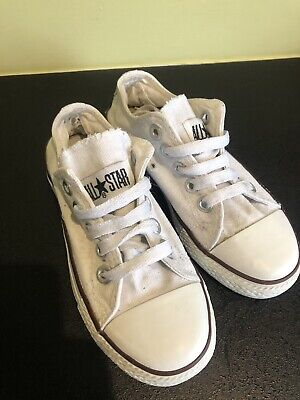 Converse All Star Girls Or Women's Size 3 White shoes Trainers