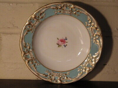ROYAL CROWN DERBY Early 19th Century PAINTED & GILDED PLATE DISH