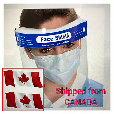 From Canada Reusable Face Shield Anti-dust, Anti-droplets, Anti-fog, Protection