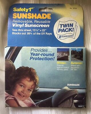 """Safety 1st Sunshade 2-Pack Removable Reusable Vinyl Sunscreen 13.5"""" x 22"""""""