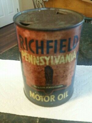 Qt Richfield Oil Can Collectible Oil And Gas Can