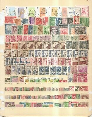 Worldwide - Mostly Older Stamps From Various Countries on Stock Card.