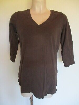 Next Maternity Brown T-Shirt Top Size 16