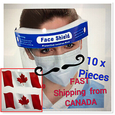 10X reusable Face Shields Anti-dust, Anti-droplets Anti-fog SHIPPED From Canada
