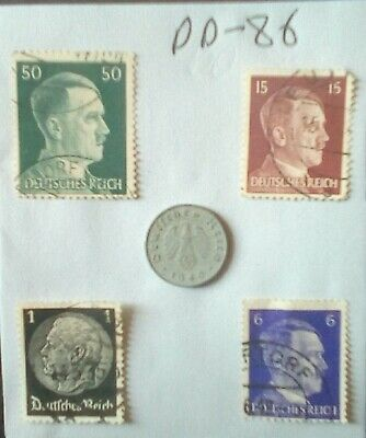 German Ww2 ,Third Reich ,Stamps / Coin , Original, 1939 /45