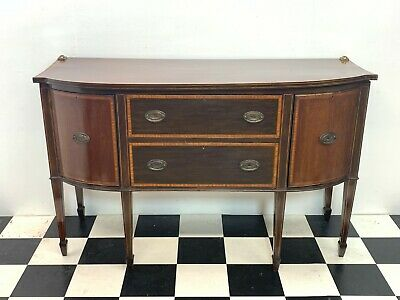 Antique Victorian mahogany Sheraton Revival sideboard chiffonier - Delivery