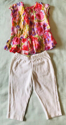Dudu Designer Spanish Girls Set 2-3 Years Old Pink Floral Top White Shorts Set