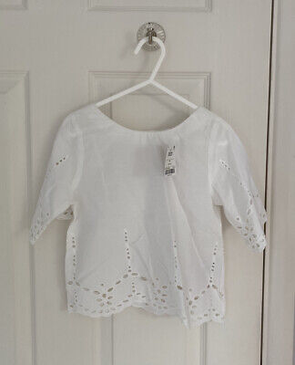 BNWT Girls NEXT White Shirt Broidery Anglaise Top 4 Years BRAND NEW