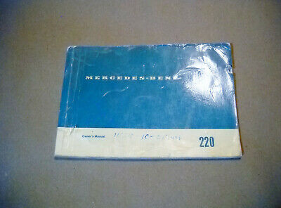 1970 Mercedes Type 220 Owner's Manual