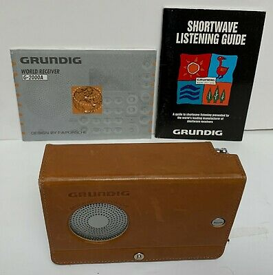 Grundig Model G-2000A World Receiver Short Wave Radio Leather Flip Cover Manual