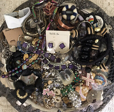 Costume Jewelry Clean Estate Lot Vintage & Modern 2.8 Pounds Wear Or Resell NICE