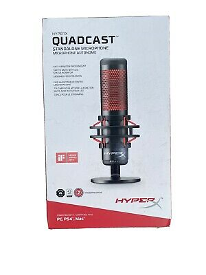 Kingston HyperX QuadCast USB Multi-Pattern Electret Condenser Microphone / NEW