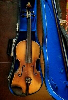 Joseph Guarnerius 1714 Antique Violin with Bow and Case, Charity Auction