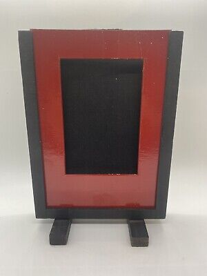 Rare vintage Card Frame with roller shade mechanism - not examinable